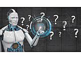 Forschung, Fragezeichen, Künstliche Intelligenz