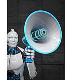 Wissenschaft, Megafon, Künstliche Intelligenz