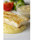 Fish Dish, Mashed Potato, Halibut