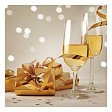 Champagne, Gifts, Festive