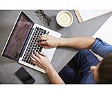 Typing, Laptop