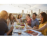 Friends, Dinner, Rooftop