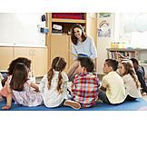 Children Group, Preschool, Storytelling, Children Gardener