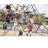 Children Group, Playground, Jungle Gym