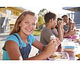 Mädchen, Essen, Pausenbrot
