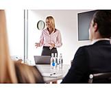 Business Woman, Explaining, Presentation