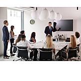 Businessman, Showing, Presentation