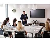 Meeting, Zuhören, Geschäftsleute, Präsentation