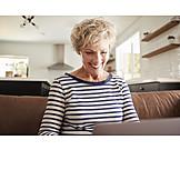 Woman, Home, Internet