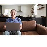 Man, Laptop, Online