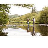 Love, Balance, Hiking, Older Couple