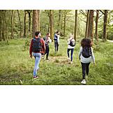 Forest, Excursion, Friends