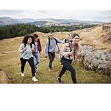 Hiking, Friends, Uphill