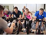 Bicycle, Gym, Endurance, Spinning