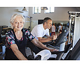 Active Seniors, Gym, Spinning