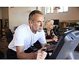 Active Seniors, Gym, Spinning