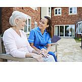 Senior, Communication, Old Nurse