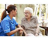 Senior, Old Nurse, Amuse