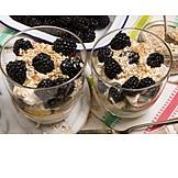 Blackberry, Dessert, Cranachan