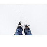 Snow, Hiking Boots