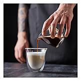 Preparation, Latte, Cappuccino