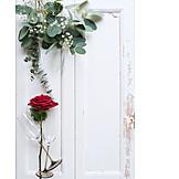 Valentinstag, Rote Rose, Sektgläser