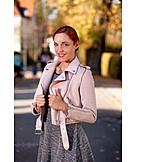 Woman, Leather jacket, Fashion