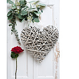 Herz, Valentinstag, Rote Rose