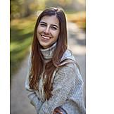 Portrait, Young Woman, Autumn