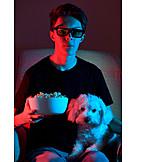 Teenager, Fernsehen, 3d-brille