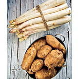 Asparagus, Potatoes, White Asparagus