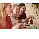 Eating, Friends, Mediterranean Cuisine