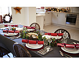 Home, Table cover, Christmas dinner