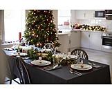 Zuhause, Weihnachten, Tischdekoration