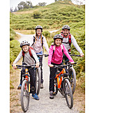 Bicycle, Family Outing, Group Picture