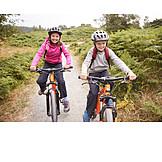Children, Mountain Bike, Cycling