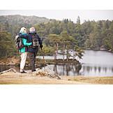 Natur, Ausblick, Seniorenpaar