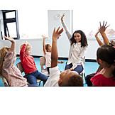 Bildung, Kindergarten, Spielerisch, Stuhlkreis