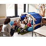 Zuhören, Kinder, Kindergarten