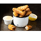 Fish, Finger Food, Breaded