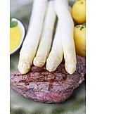 Beef Steak, Grilled Meat, Asparagus
