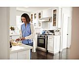 Frau, Küche, Zubereiten
