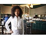 Bar counter, Self confident, Waitress
