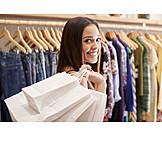 Glücklich, Mode, Shopping