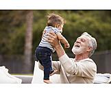 Grandson, Grandfather, Happy