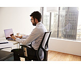 Businessman, Office, Desk