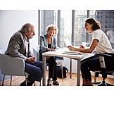 Dokument, Beratung, Durchlesen, Seniorenpaar