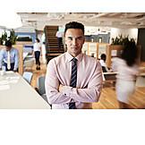 Businessman, Office, Focussed