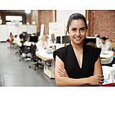 Business woman, Open plan office