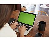 Textfreiraum, Tippen, Laptop